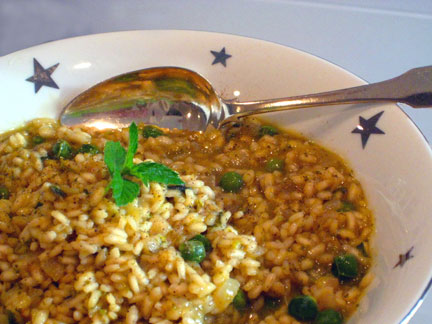 Minty's Mint and Pea Risotto Recipe