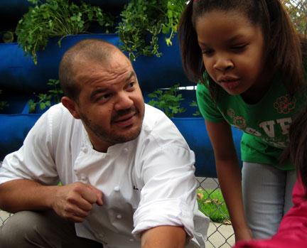 Chef + School + Garden = A1 Nutrition