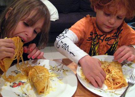 Spaghetti Tacos Lucy Lean