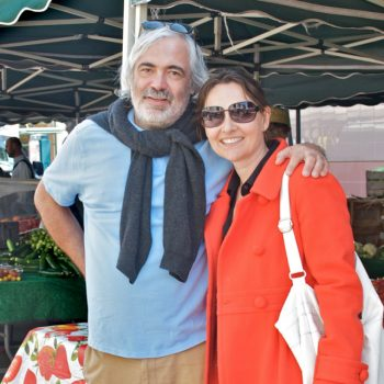 Alan Giraud with Lucy Lean at the Santa Monica Farmers Market