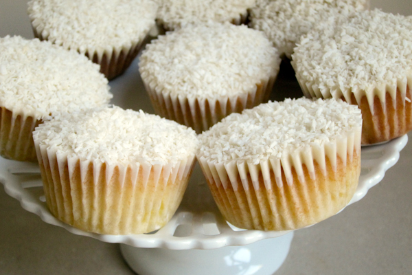 The Hummingbird Bakery Coconut and Pineapple Cupcakes fit for a Missoni Plate
