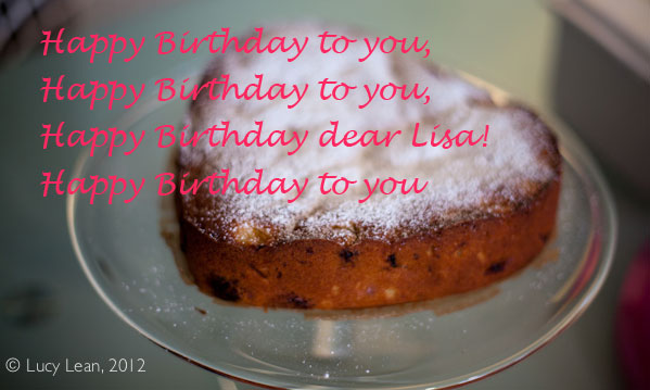 A cake for Lisa, with a little help from Nigel Slater