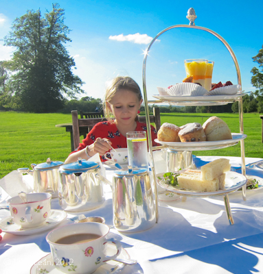 teatime at Lucknam Park with Minty