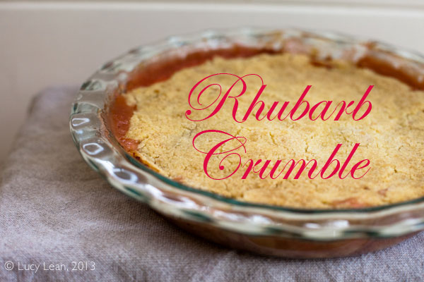 The Best Pink Rhubarb Crumble Recipe for THE TASTE