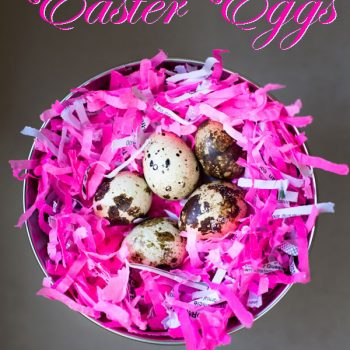 Praline Filled Easter Eggs - chocolate filled Quails eggs