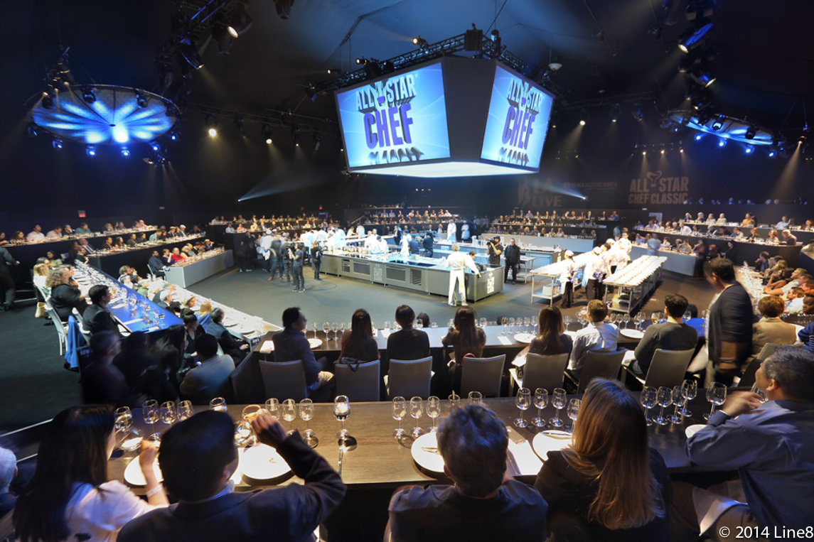 The stars aligned for all star chef classic lucy lean for Dining at t stadium