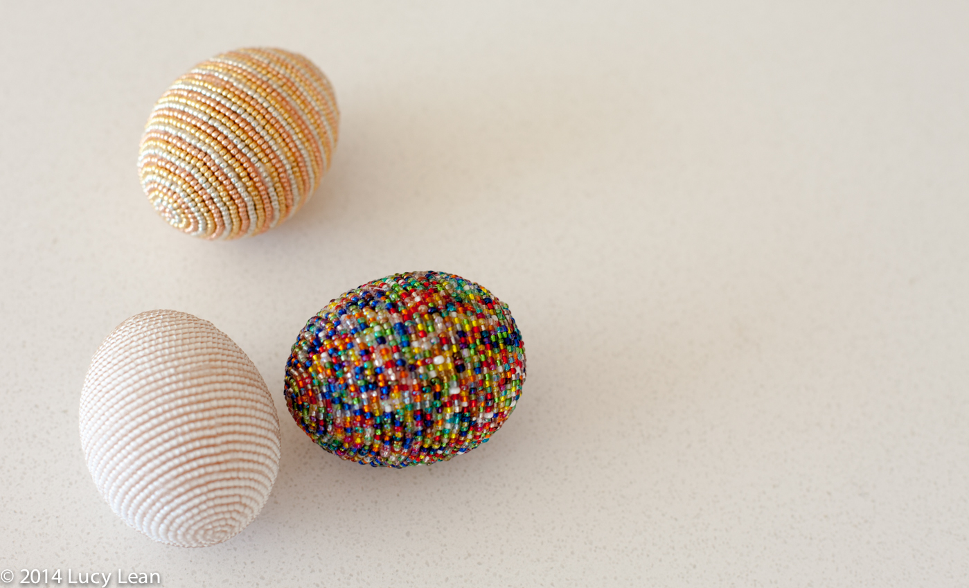 making bead eggs for Easter