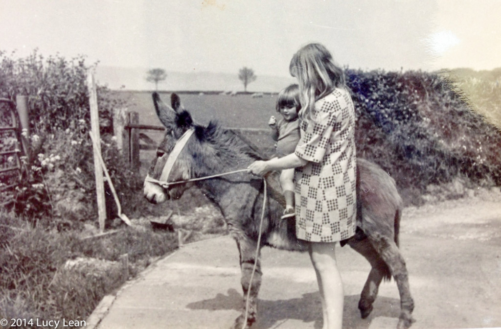 Me on Hercules the donkey aged one
