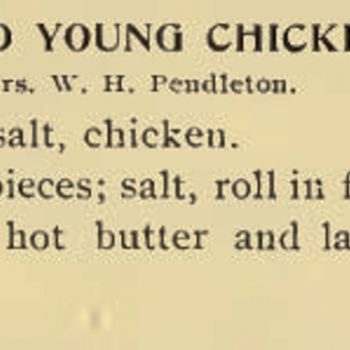 Fried young chicken from 1894