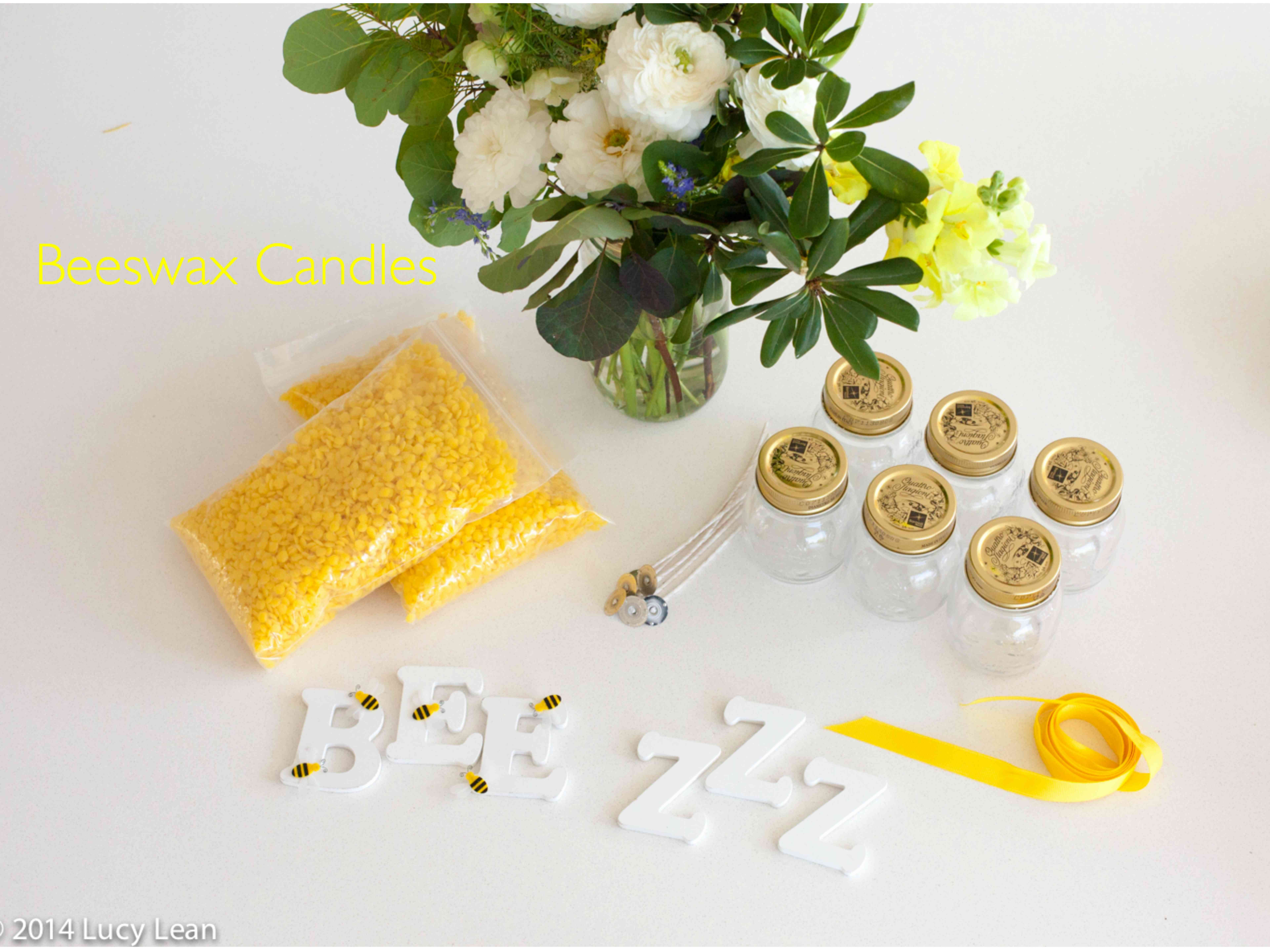 Beeswax candlemaking