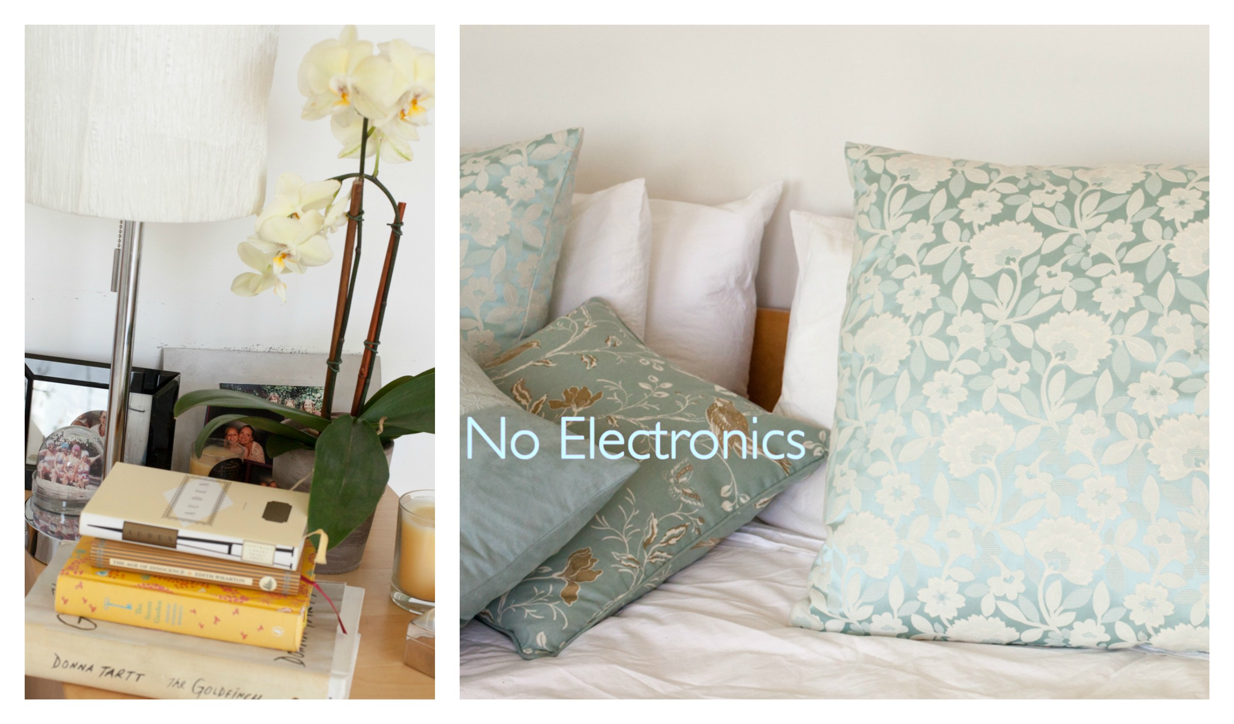 no electronics in the bedroom