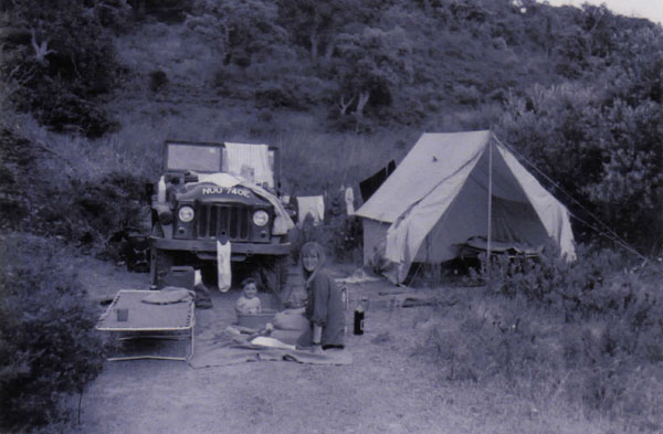 Camping as a baby