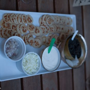 caviar and blinis