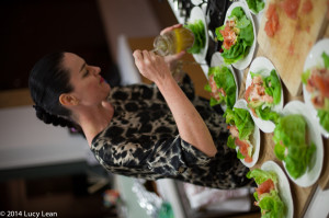 Emma makes seafood salad