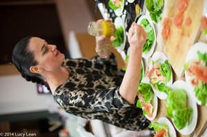Emma Fairley makes seafood salad