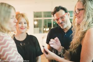 Lisa Borgnes Giramonti, Piero Giramonti, Caroline Wheeler and Ilse Ackerman share a photo