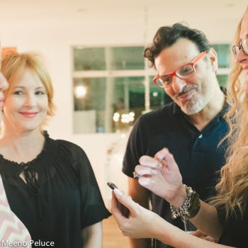 Lisa Borgnes Giramonti, Piero Giramonti, Caroline Wheeler and Ilse Ackerman share a photo