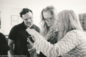 Piero, Caroline and Ilse share a photo
