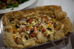Veggie tart made by Caroline Wheeler