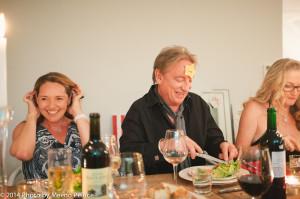 Lucy Lean, Luke Thornton and Caroline Wheeler