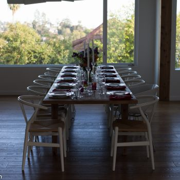 table set for dinner party