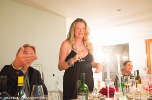 Luke Thornton, Caroline Wheeler and Emma Fairley - Caroline makes her speech