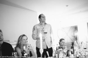 Caroline Wheeler, Didier Rachou and Emma Fairley - Didier makes a speech