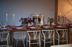 table set for anniversary party