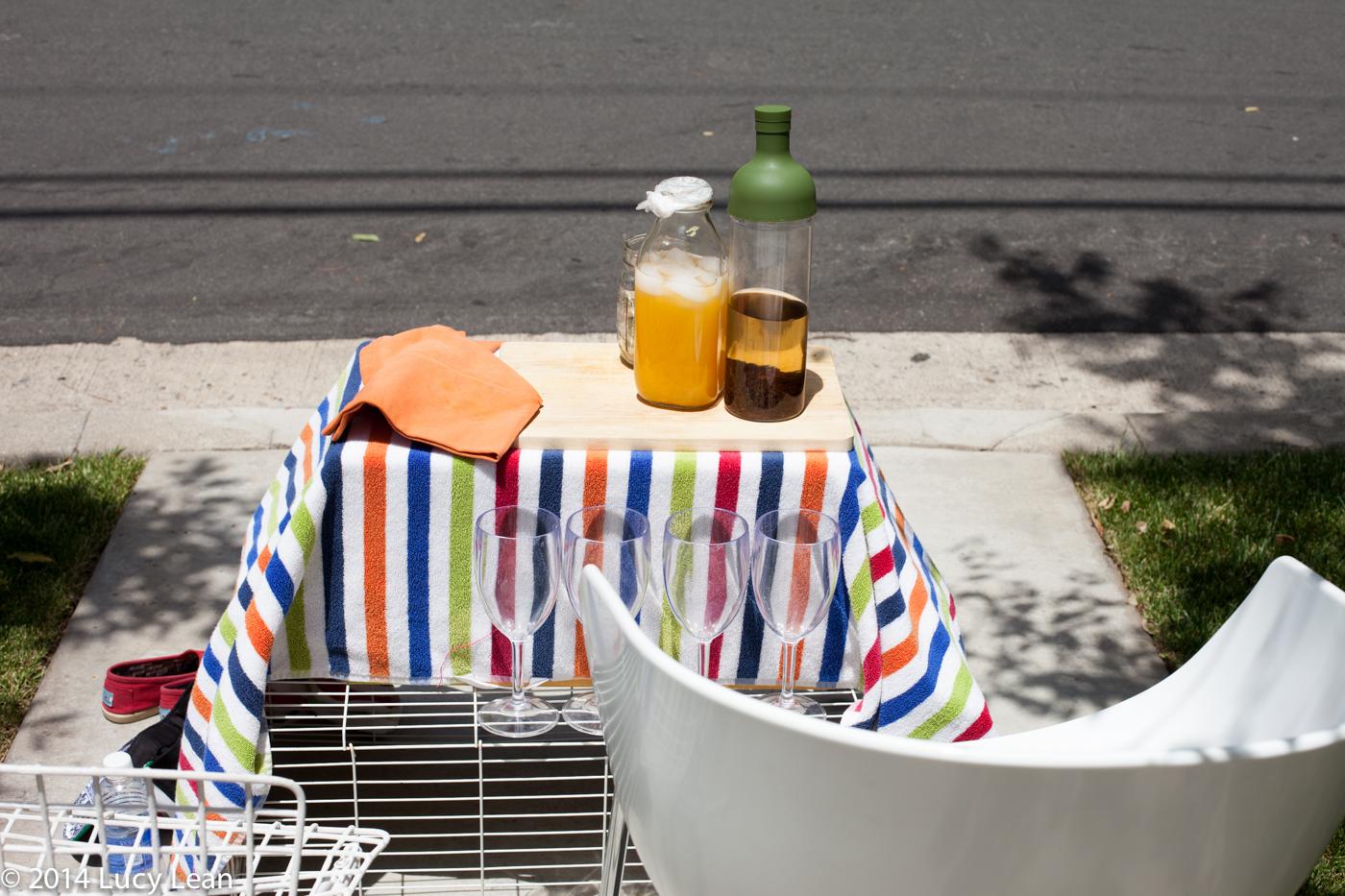 orangeade and iced tea stand