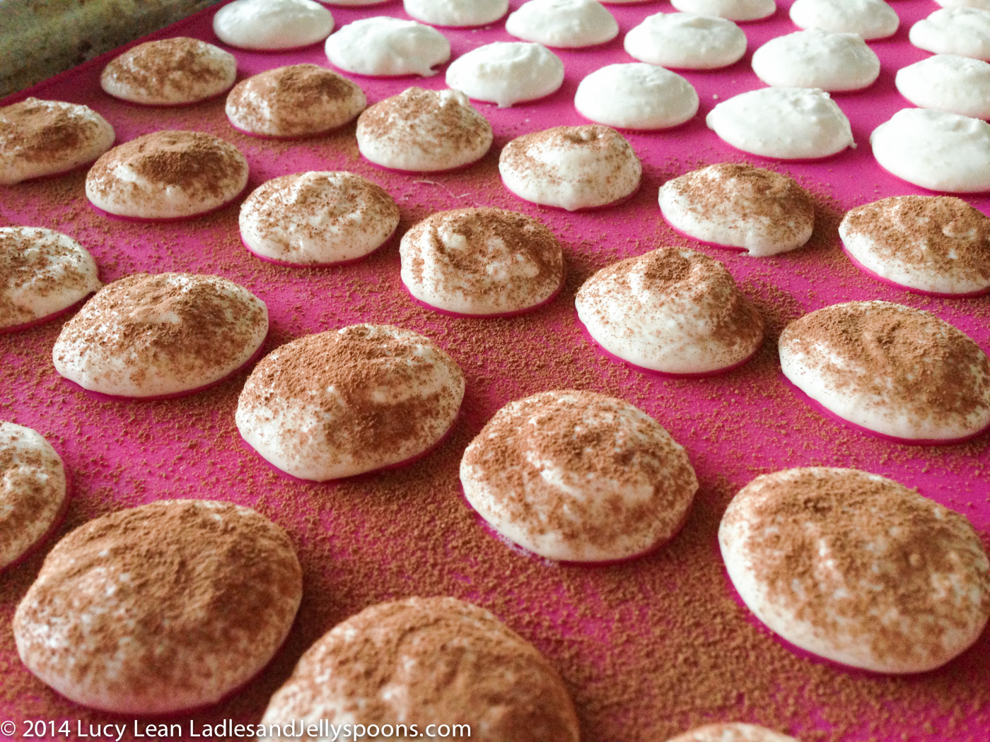 dusted macarons