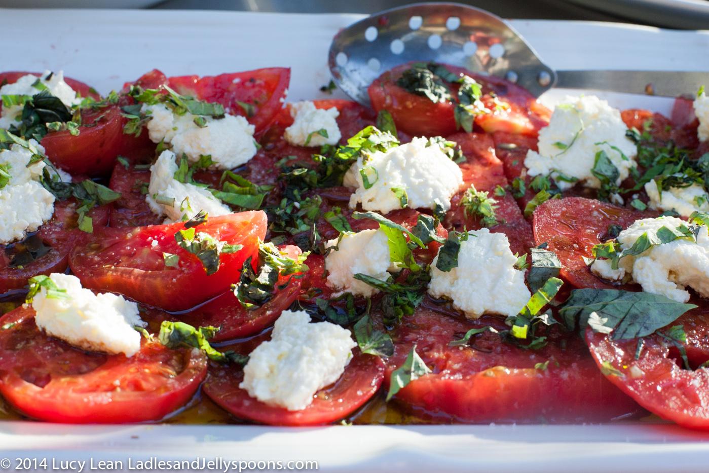 tomato buratta salad