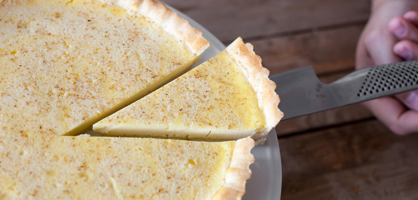 slice of custard tart