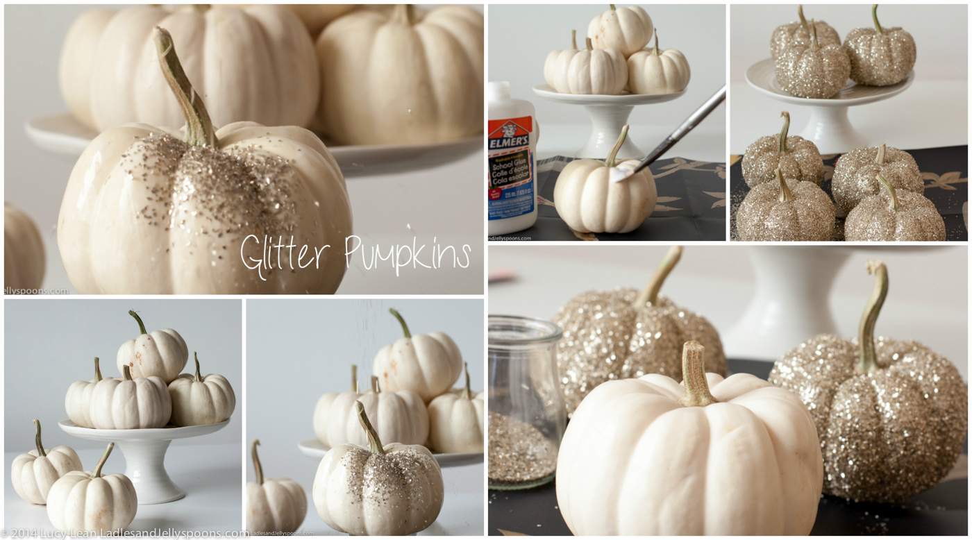 Glitter Pumpkins for the Holidays