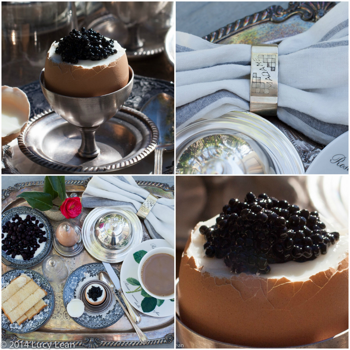 caviar egg Lean Luxury Breakfast Tray