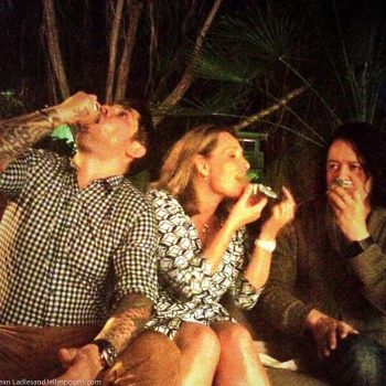 Ludo Lefebvre, Lucy Lean, Roland Orzabal, Thanksgiving2014 copyright Krissy Lefebvre