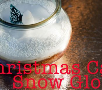 Christmas Cake in a Jar Snow Globes