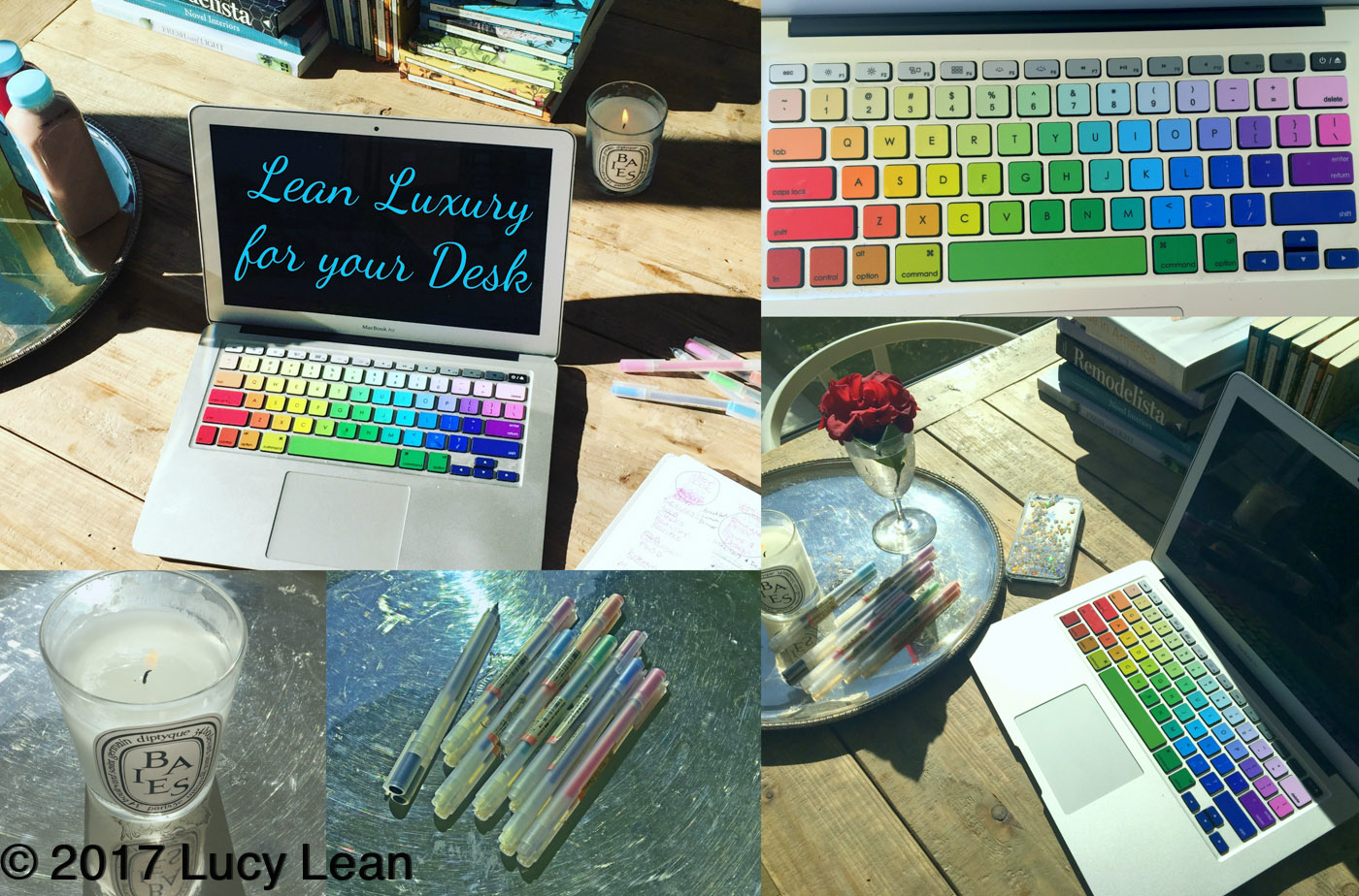 Brighten up 2017 Lean Luxury for your desk