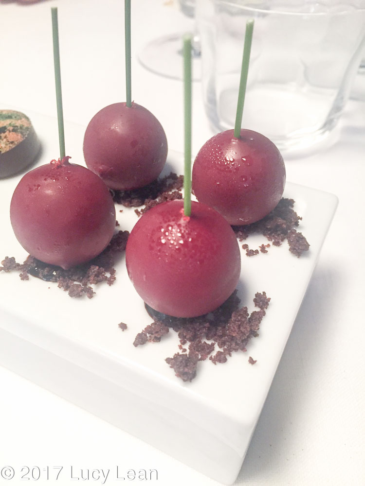 Worlds No1 Restaurant Menu Osteria Francescana Cherry Petit Fours