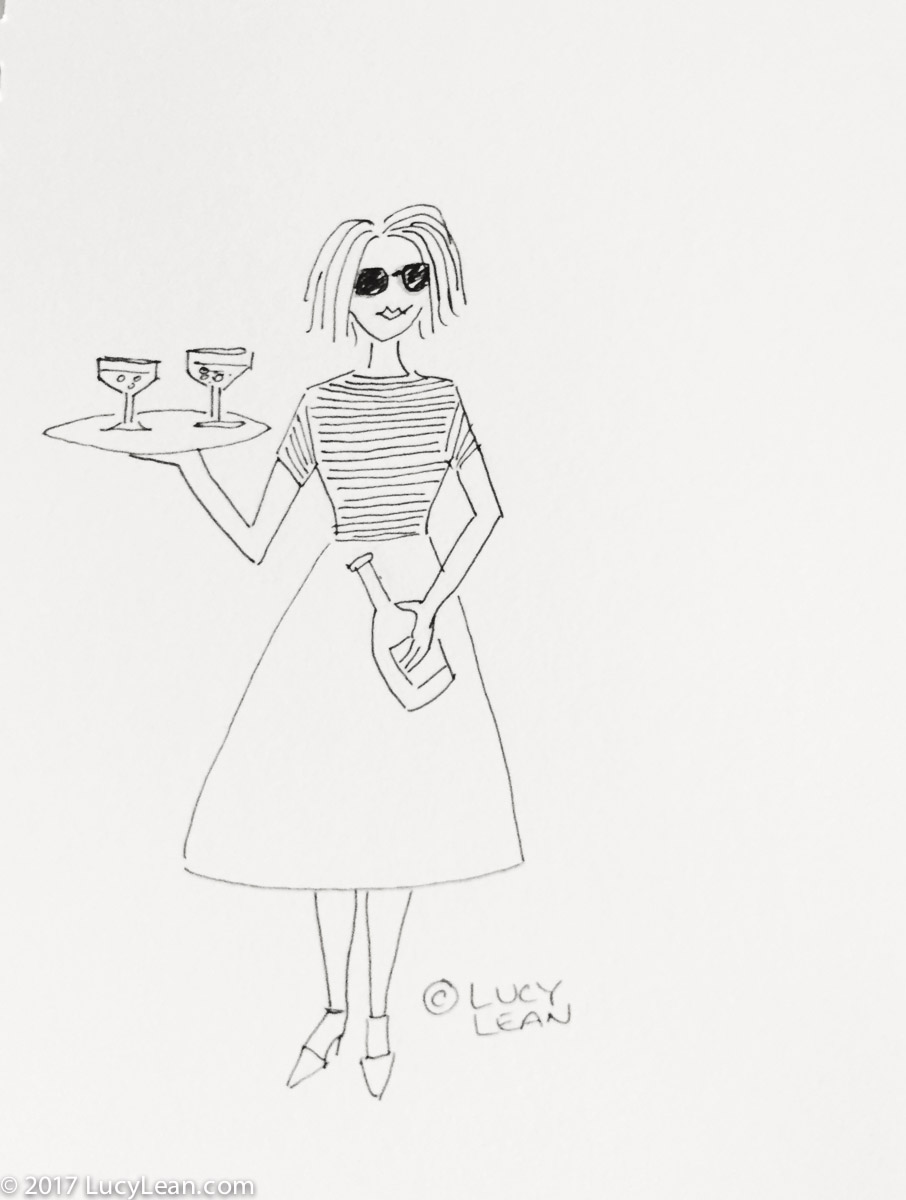 Rosé Corner - Easy Entertaining at Home Rosé Corner - You're Invited! Lucy Lean illustration