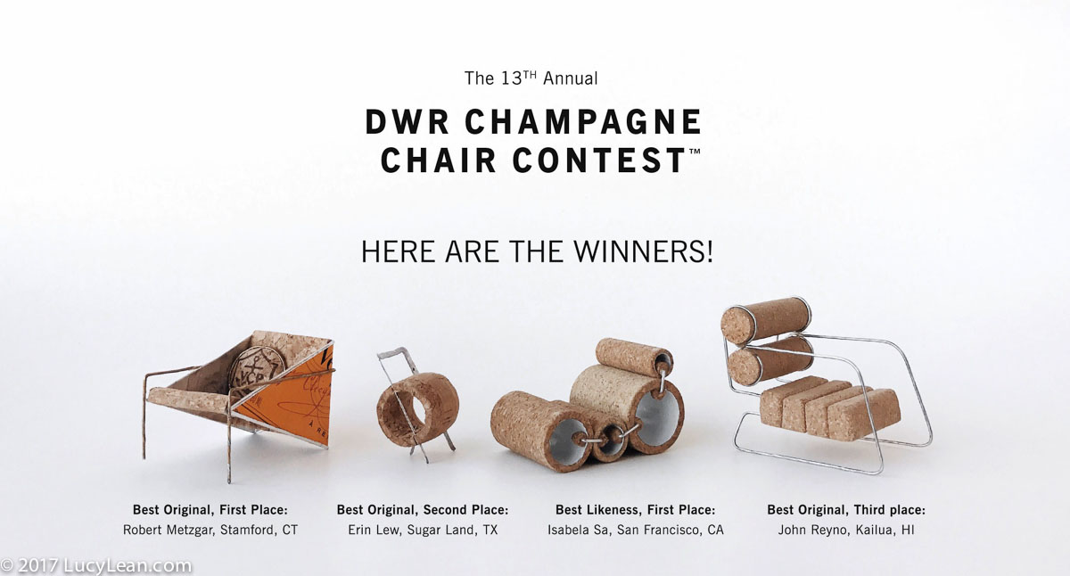 Champagne Chairs easy to make Lean Luxury Lucy Lean DWR Contest