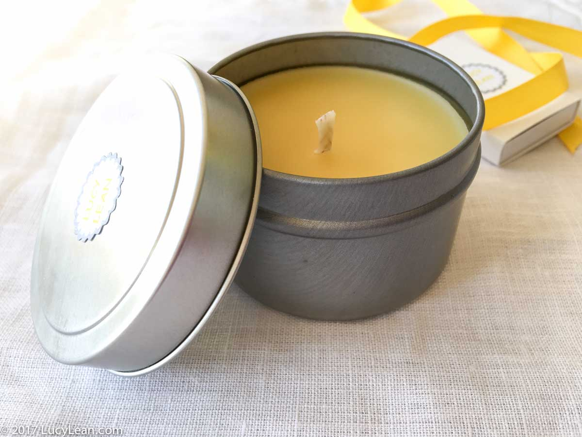Beeswax Travel Candle Lucy Lean Lean Luxury Lucy Life Hack