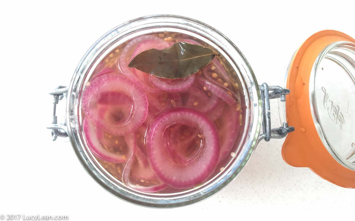 Pretty Pink Pickled Onions - A Lean Luxury Staple