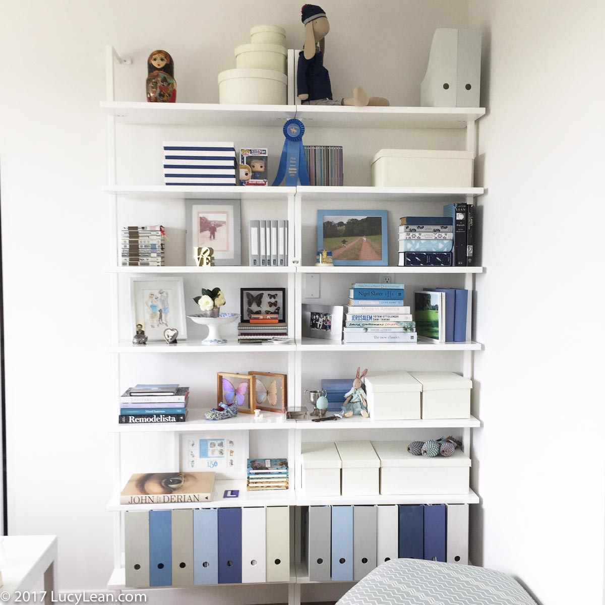 Office Spring Clean - New Shelves in 50 Shades of Blue