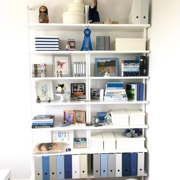 Office Spring Clean – New Shelves in 50 Shades of Blue