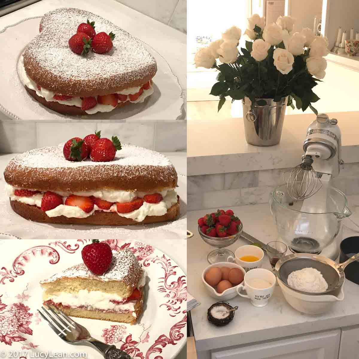 How To Decorate A Sponge Cake Using Cream And Strawberries