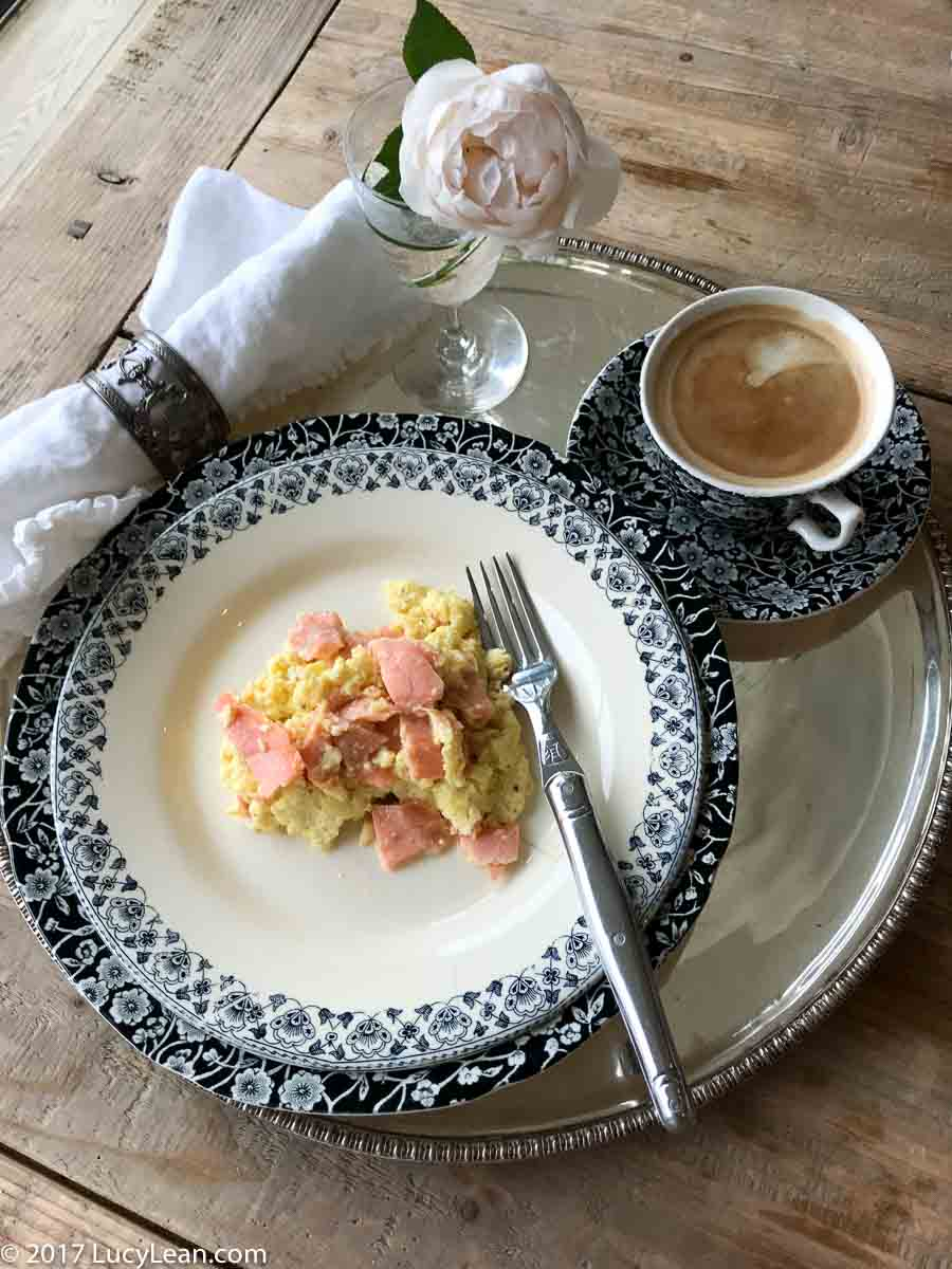 Day 3 of 40 Day Delicious Diet - Butter Coffee +Scrambled Eggs and Salmon